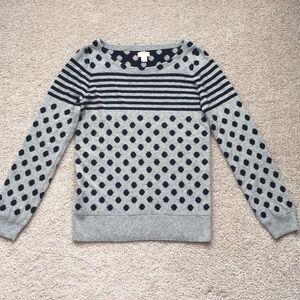 J. Crew gray and navy sweater sz sm